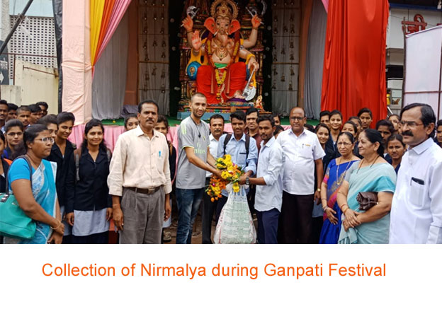 Collection of Nirmalya during Ganpati Festival